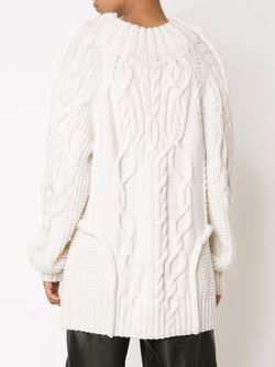 Свитер Вязки Косичка Vera Wang                                                                                                              белый цвет