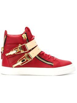 Хайтопы С Золотистыми Деталями Giuseppe Zanotti Design                                                                                                              красный цвет