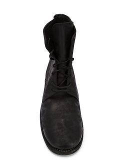 Ботинки На Шнуровке С Потертой Отделкой GUIDI                                                                                                              чёрный цвет