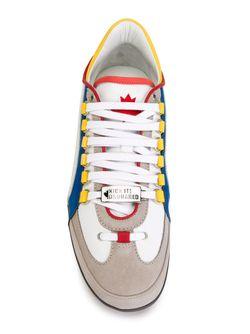 Кроссовки С Разноцветными Полосками Dsquared2                                                                                                              белый цвет
