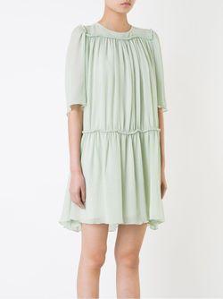Плиссированное Платье Chloe                                                                                                              зелёный цвет