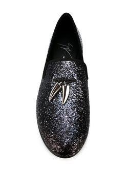 Слиперы С Блестками Giuseppe Zanotti Design                                                                                                              серебристый цвет