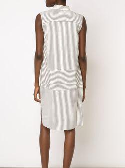 Полосатое Платье-Рубашка Без Рукавов Rag & Bone                                                                                                              белый цвет