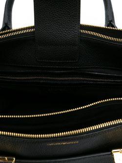 Сумка Через Плечо С Тисненым Логотипом Emporio Armani                                                                                                              чёрный цвет