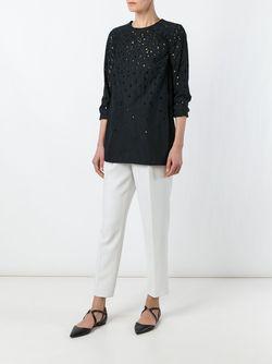 Перфорированная Блузка Proenza Schouler                                                                                                              черный цвет