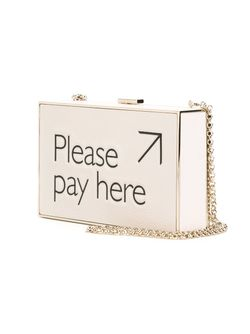 Клатч-Футляр Please Pay Here Anya Hindmarch                                                                                                              Nude & Neutrals цвет