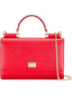 Мини Сумка Через Плечо Von Dolce & Gabbana                                                                                                              красный цвет