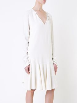 Плиссированное Платье С Заниженной Талией Chloe                                                                                                              белый цвет