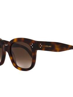 Солнцезащитные Очки В Черепаховой Оправе Céline                                                                                                              коричневый цвет