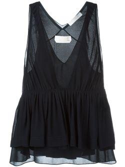 Блузка С V-Образным Вырезом Chloe                                                                                                              синий цвет