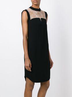 Платье С Кружевной Вставкой MAME                                                                                                              черный цвет
