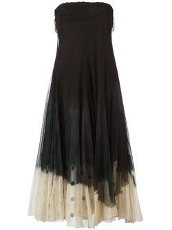 Расклешенное Платье Marc Le Bihan                                                                                                              черный цвет