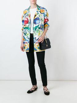 Рубашка С Принтом Majolica Dolce & Gabbana                                                                                                              многоцветный цвет