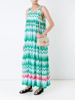 Платье Зигзагообразной Вязки Missoni                                                                                                              зелёный цвет
