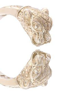 Кольцо В Виде Голов Пантер Nialaya Jewelry                                                                                                              серый цвет