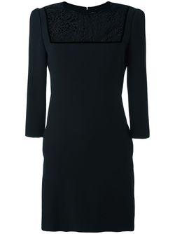 Платье С Кружевной Вставкой Alexander McQueen                                                                                                              черный цвет