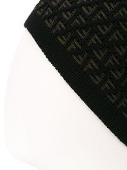 Шапка С Логотипом Ff Fendi                                                                                                              чёрный цвет