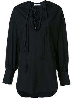 Блузка На Шнуровке TOME                                                                                                              чёрный цвет