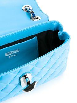 Стеганая Сумка Через Плечо Moschino                                                                                                              синий цвет