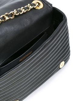 Байкерская Сумка На Плечо Moschino                                                                                                              чёрный цвет
