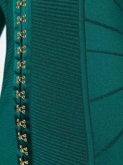 Облегающее Платье С V-Образным Вырезом Balmain                                                                                                              зелёный цвет