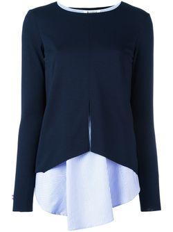 Блузка С Топом Dondup                                                                                                              синий цвет