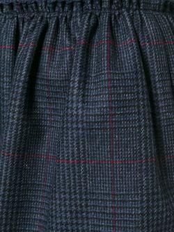 Твидовая Юбка Jil Sander Navy                                                                                                              серый цвет