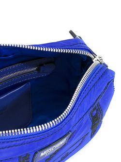Сумка На Плечо С Принтом Moschino                                                                                                              синий цвет