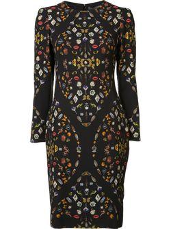 Платье С Рисунком Obsession Alexander McQueen                                                                                                              чёрный цвет
