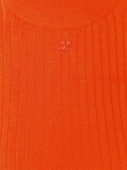 Свитер С Отделкой В Рубчик Courreges                                                                                                              красный цвет