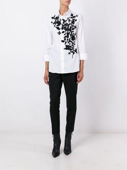 Рубашка С Вышивкой Dsquared2                                                                                                              белый цвет