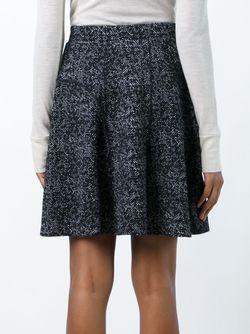 Flocked A-Line Skirt Steffen Schraut                                                                                                              чёрный цвет