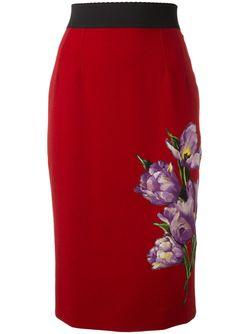 Юбка С Аппликацией Dolce & Gabbana                                                                                                              красный цвет