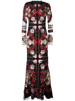 Вечернее Платье С Вышивкой Alexander McQueen                                                                                                              чёрный цвет