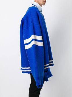 Спортивный Джемпер С V-Образным Вырезом Raf Simons                                                                                                              синий цвет