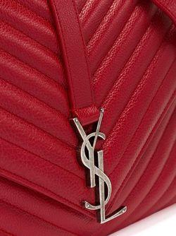 Большая Сумка-Сэтчел Collège Monogram Saint Laurent                                                                                                              красный цвет