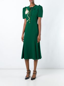 Платье С Аппликацией Часов Dolce & Gabbana                                                                                                              зелёный цвет