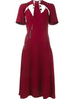 Платье С Подвесками Christopher Kane                                                                                                              красный цвет