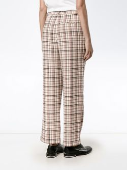 Duncan Check Trousers Ganni                                                                                                              Nude & Neutrals цвет