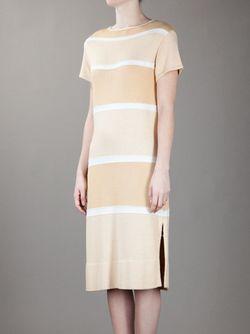 Платье В Полоску COURREGES VINTAGE                                                                                                              Nude & Neutrals цвет