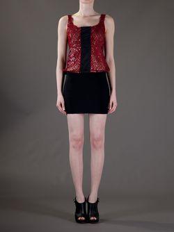 Платье С Красными Блёстками JEAN PAUL GAULTIER VINTAGE                                                                                                              черный цвет