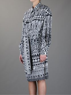 Платье С Геометрическим Рисунком GIANFRANCO FERRE VINTAGE                                                                                                              черный цвет