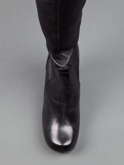 Сапоги Выше Колена На Платформе Rick Owens                                                                                                              чёрный цвет