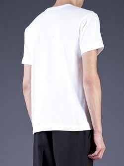 Футболка С Принтом Логотипа Comme Des Garcons                                                                                                              белый цвет
