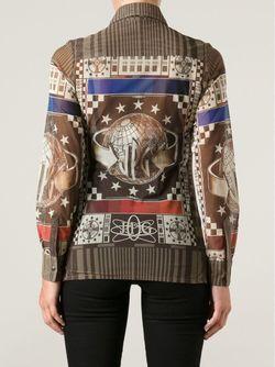 Рубашка С Абстрактным Принтом JEAN PAUL GAULTIER VINTAGE                                                                                                              коричневый цвет