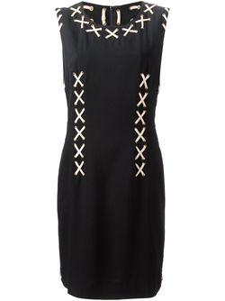 Платье С Ленточными Вставками MOSCHINO VINTAGE                                                                                                              чёрный цвет