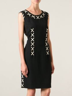 Платье С Ленточными Вставками MOSCHINO VINTAGE                                                                                                              черный цвет