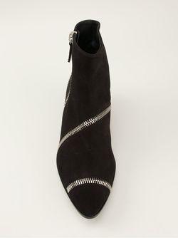 Сапоги По Щиколотку С Молниями Giuseppe Zanotti Design                                                                                                              черный цвет