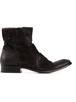 Ботинки С Потертым Эффектом John Varvatos                                                                                                              черный цвет