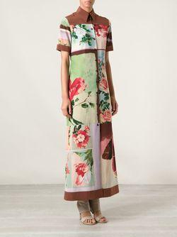 Платье-Рубашка В Принт Nature JEAN PAUL GAULTIER VINTAGE                                                                                                              коричневый цвет